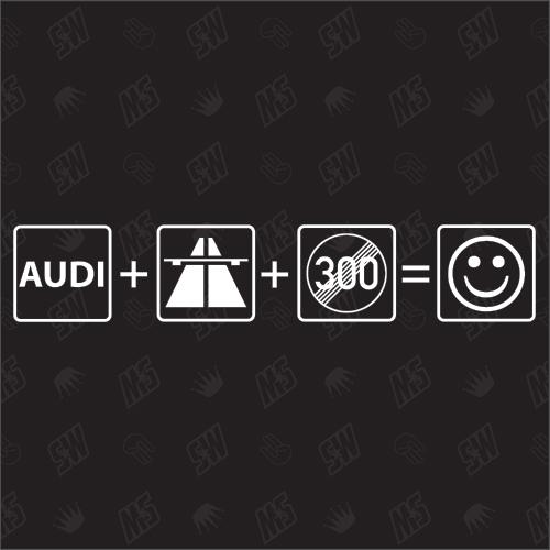 Auto + Autobahn + 300 Aufgehoben = Smiley - Sticker kompatibel mit Audi