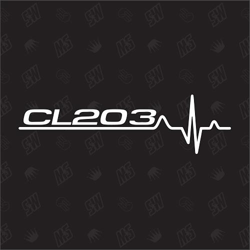 CL203 Herzschlag - Sticker kompatibel mit Mercedes Benz