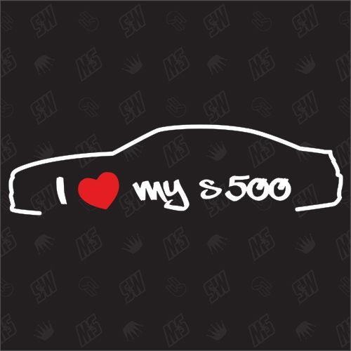 I love my Mercedes S500 C217 - Sticker, ab Bj 14