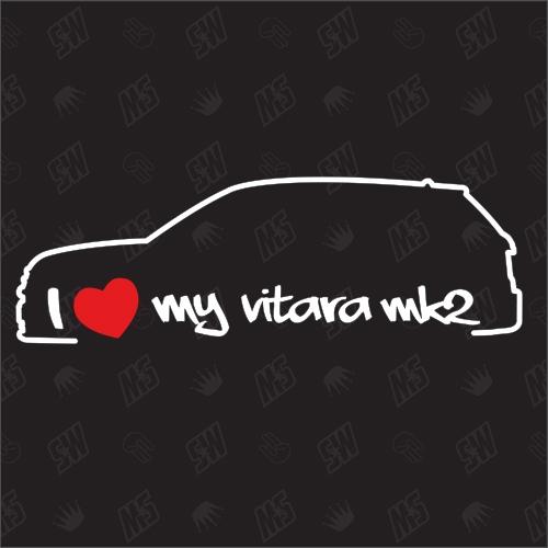 I love my Vitara 2 - Sticker kompatibel mit Suzuki - Baujahr 2015