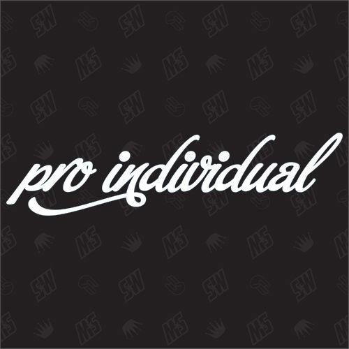 pro individual - Sticker