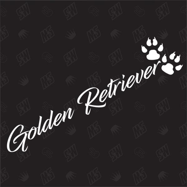 Golden Retriever - Sticker, Hundesticker, Pfoten
