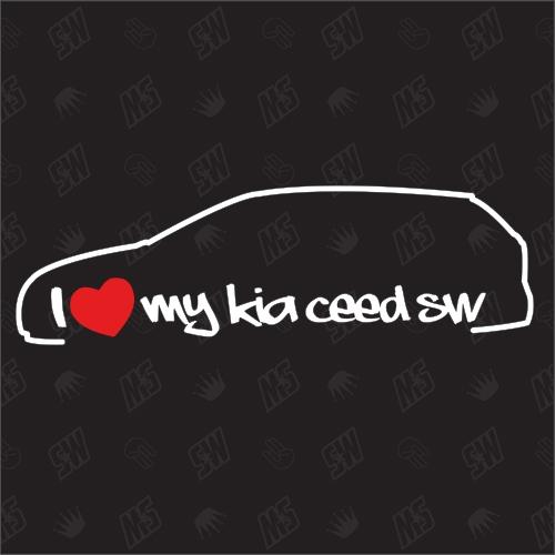 I love my Kia Ceed JD SW - Sticker, Bj. 12-18, Kombi