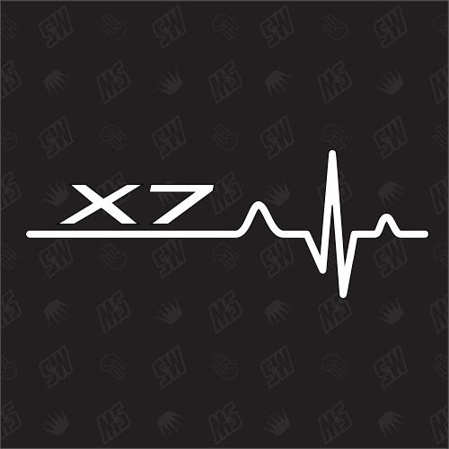 X7 Herzschlag - Sticker