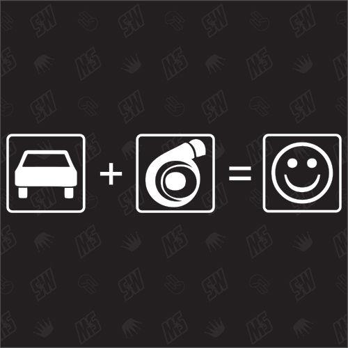Auto + Turbo = Smile - Sticker