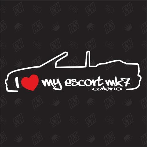 I love my Ford Escort MK7 Cabrio -Sticker, Bj 95-00