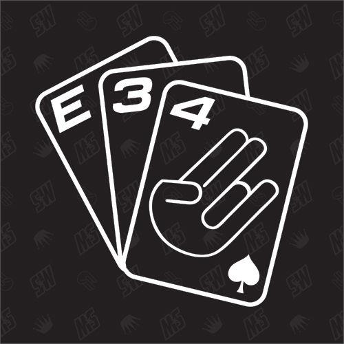 Spielkarten BMW E34 - Sticker