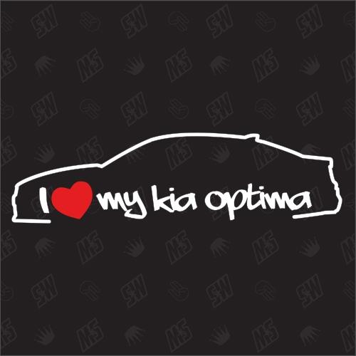 I love my Kia Optima Limousine - Sticker, ab Bj. 15, Limo, JF