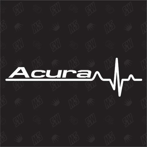 Acura Herzschlag - Sticker kompatibel mit Honda