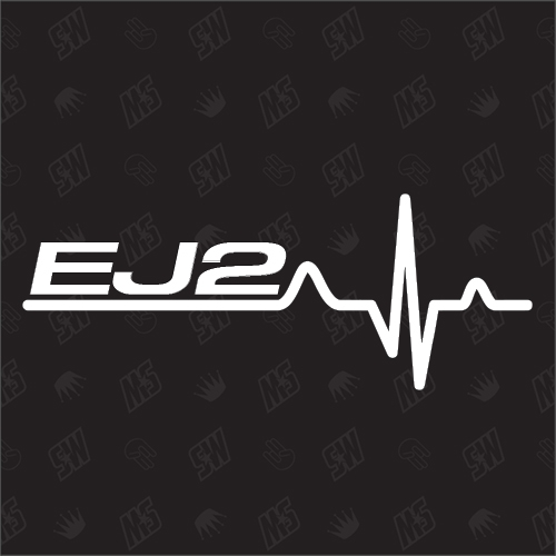 EJ2 Herzschlag - Sticker kompatibel mit Honda