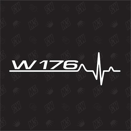 W176 Herzschlag - Sticker kompatibel mit Mercedes Benz