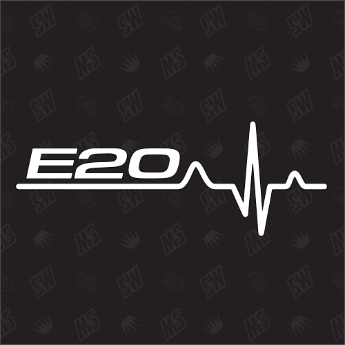E20 Herzschlag - Sticker, Tuning Fan Aufkleber, BMW