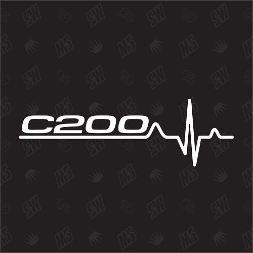 C200 Herzschlag - Sticker kompatibel mit Mercedes Benz