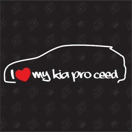 I love my Kia Pro Ceed ED - Sticker, Bj. 08-13, Coupe