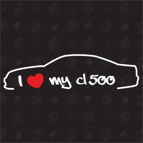 I love my Mercedes CL500 C215 - Sticker, Bj 02-06