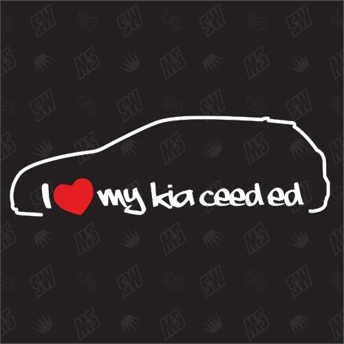I love my Kia Ceed ED - Sticker, Bj. 06-13, Schrägheck