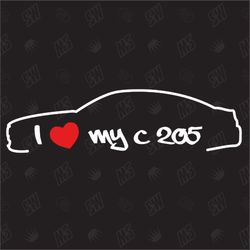 I love my Mercedes C205 - Sticker, Bj 15 - 19