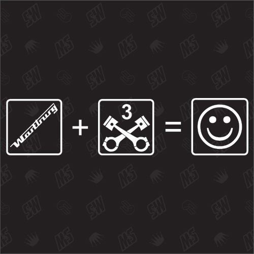 Wartburg + 3 Zylinder = Smile - Sticker