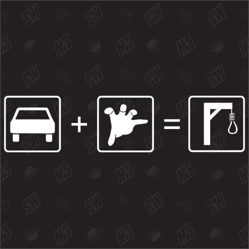 Auto + Diebstahl = Galgen - Sticker