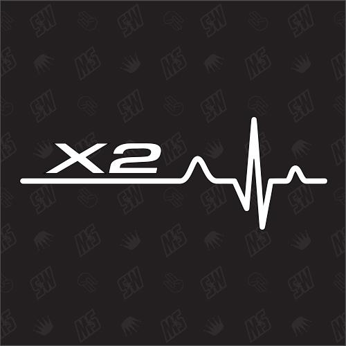 X2 Herzschlag - Sticker