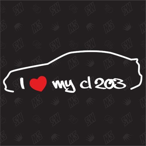 I love my Mercedes CL203 - Sticker bj 00-04