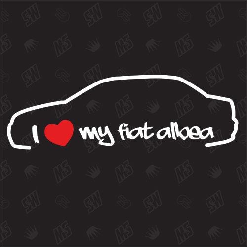 I love my Fiat Albea - Sticker Bj .05-09