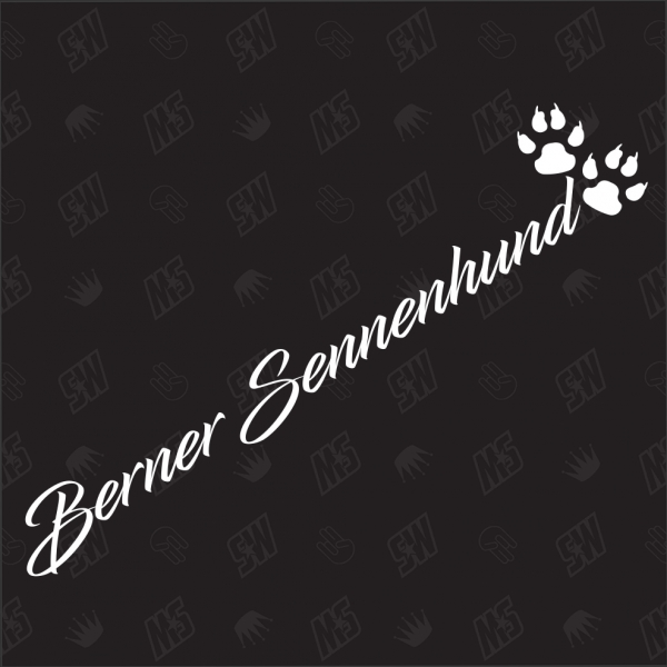 Berner Sennenhund - Sticker, Hundesticker, Pfoten