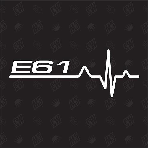 E61 Herzschlag - Sticker, Tuning Fan Aufkleber, BMW