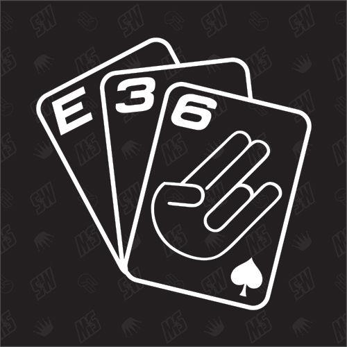 Spielkarten BMW E36 - Sticker