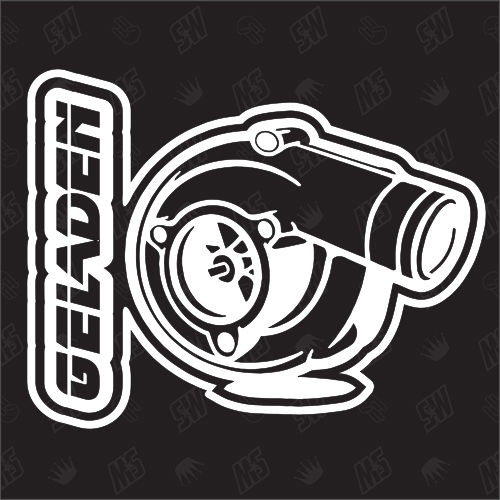 Geladen - Turbo Sticker