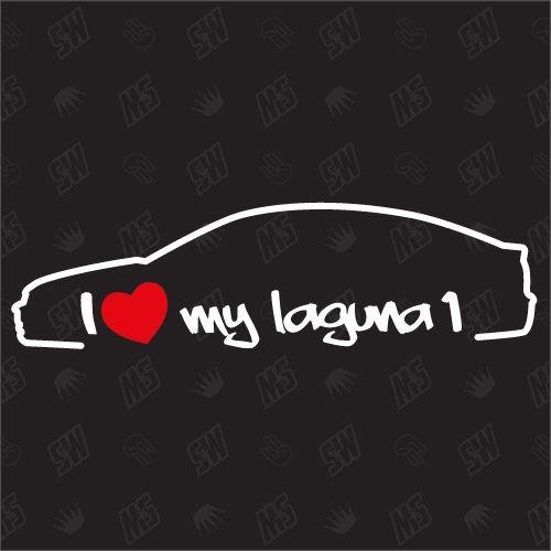 I love my Renault Laguna 1 Limousine - Sticker Bj.94-99