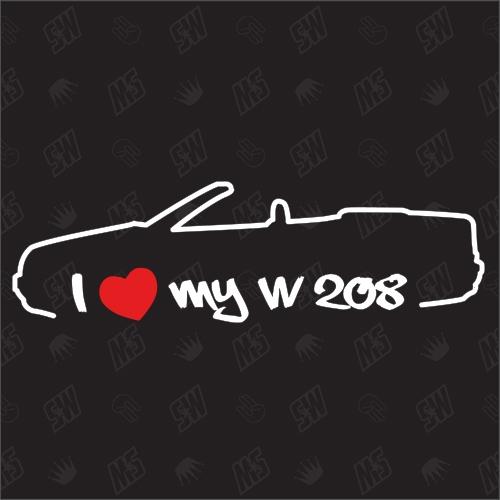 I love my Mercedes W208 - Sticker, CLK Bj 97-03, Cabrio