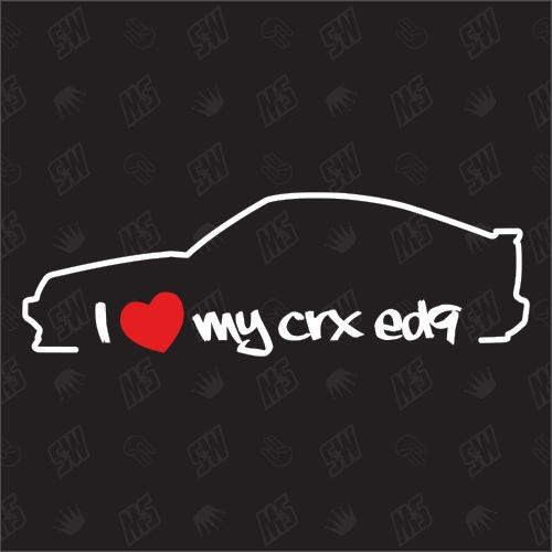 I love my Honda CRX ED9 / EE8 - Sticker Bj.87-91