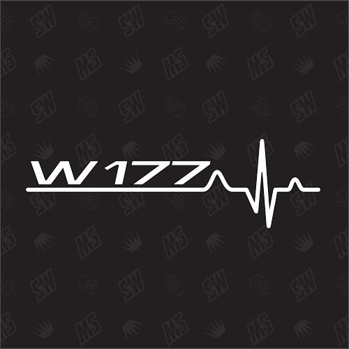 W177 Herzschlag - Sticker kompatibel mit Mercedes Benz