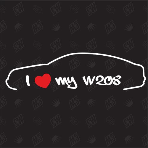 I love my W208 Coupe - Sticker kompatibel mit Mercedes Benz - Baujahr ab 1997