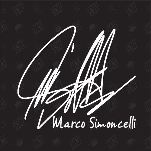 Marco Simoncelli Autogramm - Moto GP Sticker