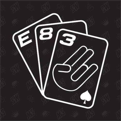 Spielkarten BMW E83 - Sticker