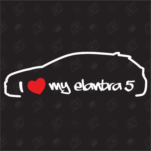 I love my Hyundai Elantra 5 - Sticker Bj 2010-2015