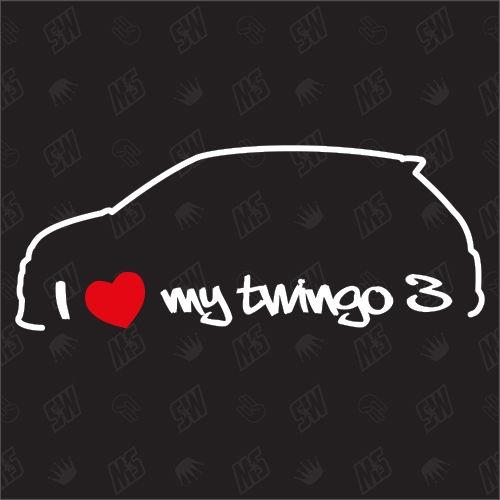 I love my Renault Twingo 3 - Sticker ,ab Bj.14