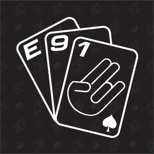 Spielkarten BMW E91 - Sticker