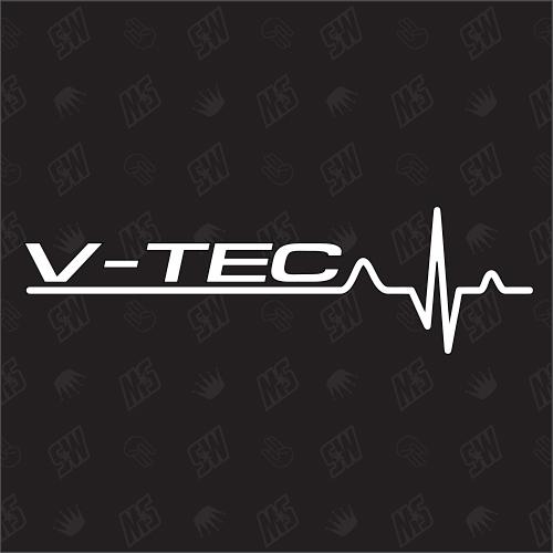 Honda V-TEC Herzschlag - Sticker