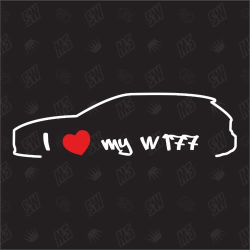 I love my Mercedes W177 - Sticker, Bj 2018