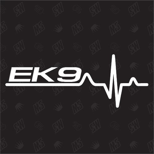 EK9 Herzschlag - Sticker kompatibel mit Honda