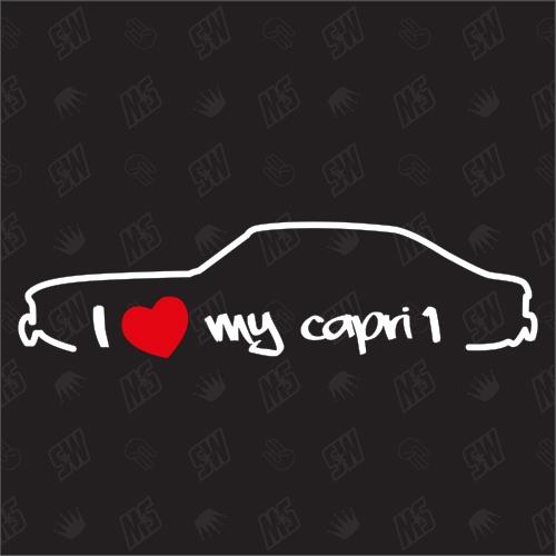 I love my Ford Capri 1 - Sticker, Bj 68 - 72