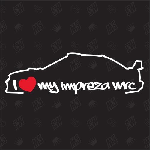 I love my Subaru Impreza WRC Silouette - Sticker BJ 2000 - 2002
