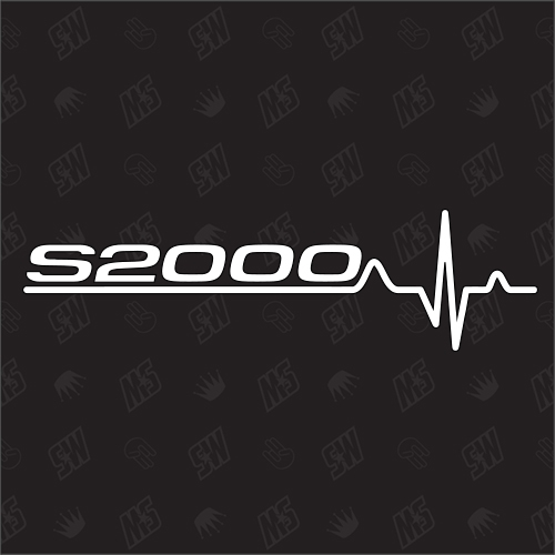 Honda S2000 Herzschlag - Sticker