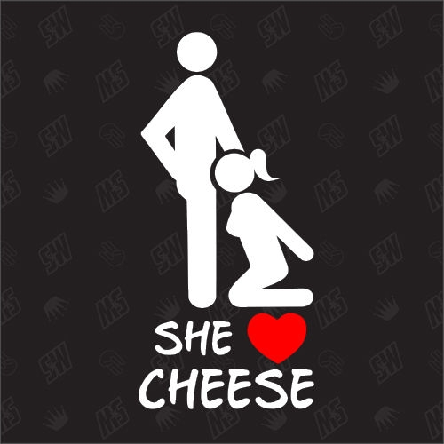 She loves Cheese - Sticker