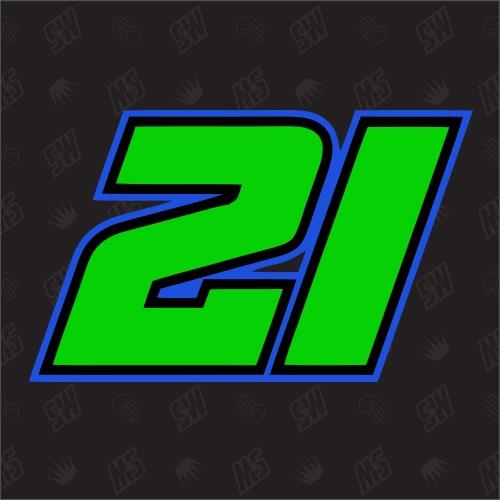 21 - Startnummer Franco Morbidellii Moto GP Sticker