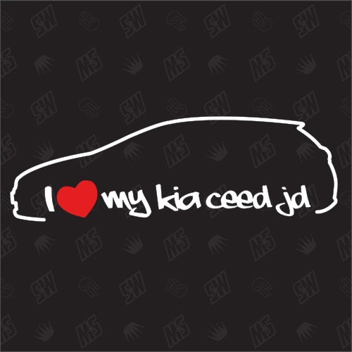I love my Kia Ceed JD - Sticker, Bj. 12-18, Schrägheck