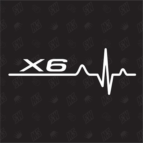 X6 Herzschlag - Sticker